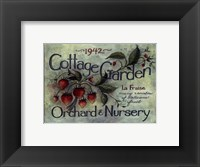 Framed Cottage Garden I