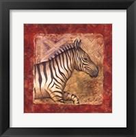 Framed Zebra Safari