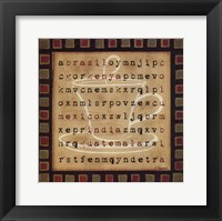 Country Word Search Framed Print