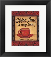 Framed Coffee Time Is Anytime