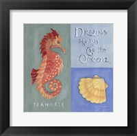 Dreams As Big As The Ocean Framed Print