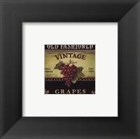 Vintage Grapes - Special Framed Print