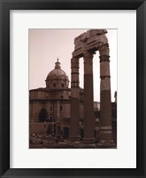 Ancient Building With Cathedral Framed Print