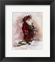 Framed Olde World Santa