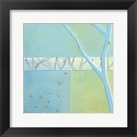 Blue Arbor I Framed Print