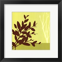 Metro Leaves In Chartreuse I Framed Print