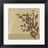 Metro Leaves In Khaki II Framed Print