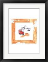 Framed Charlie's Steamshovel