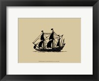 Ship Silhouette I Framed Print