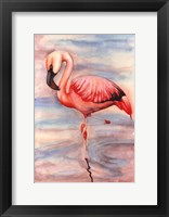 Framed Pink Flamingo II