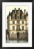 Framed French Chateaux In Blue I