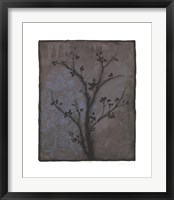 Branch In Silhouette IV Framed Print