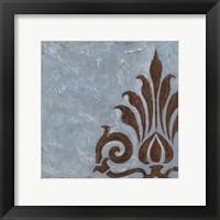 Silver Damask II Framed Print