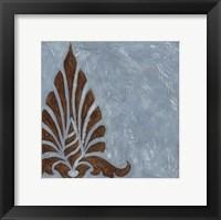 Silver Damask III Framed Print