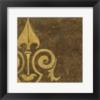 Gold Damask III Framed Print