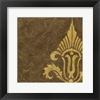 Gold Damask IV Framed Print