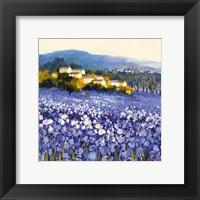 Framed Champs D'iris, Provence
