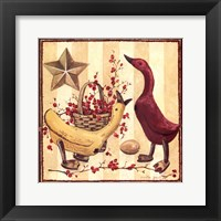 Framed Wooden Ducks I