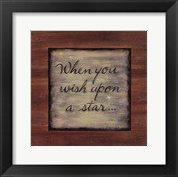 Framed Wish Upon a Star