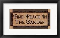 Framed Peace In The Garden