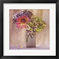 Framed Dahlia With Hydrangeas II