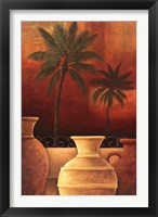 Framed Sunset Palms I