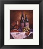 Wine & Grape II Framed Print