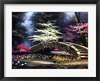 Dogwood and Waterlilies Framed Print