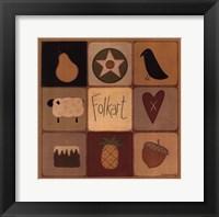 Folk Art Patch Framed Print