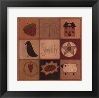 Simplify Patch Framed Print