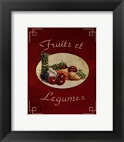Framed Fruits Et Legumes