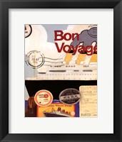 Framed Bon Voyage I