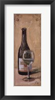 White Wine With Glass Framed Print