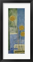 Blooms On Blue I Framed Print