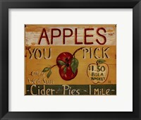 Fruit Stand IV Framed Print