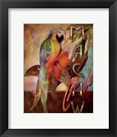 Macaw Cafe Framed Print