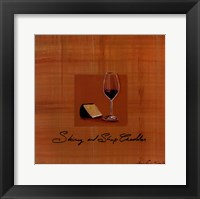 Framed Wine Cheese III