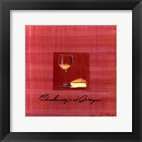 Wine & Cheese IV Framed Print