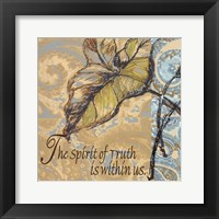Spirit Of Truth Framed Print
