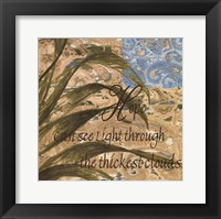 Hope Can See Light Framed Print