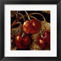 Framed Sweet Cherries I