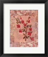 Butterflies And Blossoms III Framed Print