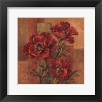 Framed Poppies Terra Cotta