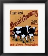 Bessie's Creamery Framed Print