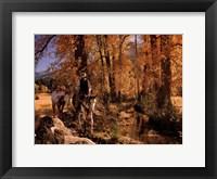 Eric's Fall Ride Framed Print