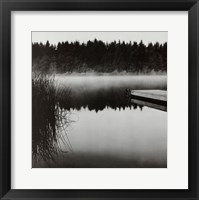 Framed Misty Dock, Salt Spring Island