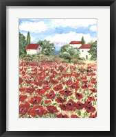 Framed Poppy Field #1