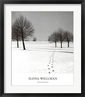 Framed Winter Footsteps