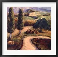 Framed Road To Montpulciano