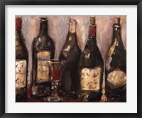 Wine Bar With French Glass Framed Print